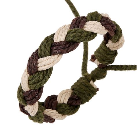 Hemp Braids - handmade braided hemp rope bracelet wax cords