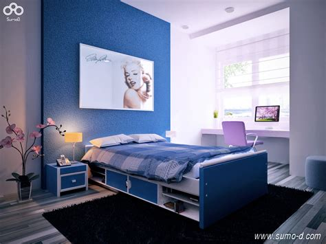 purple bedrooms for teenagers blue purple kids room interior design ideas
