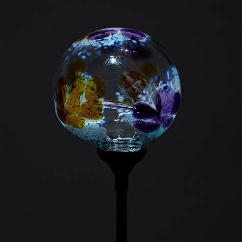 Globe Solar Lights Outdoor Solar Light Garden Stake Flower Globes Garden Glass Globe Uncommongoods
