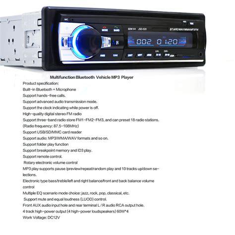 Audio Mobil Multifungsi Bluetooth Usb Mp3 Fm Radio audio mobil multifungsi bluetooth usb mp3 fm radio jsd 520 black jakartanotebook