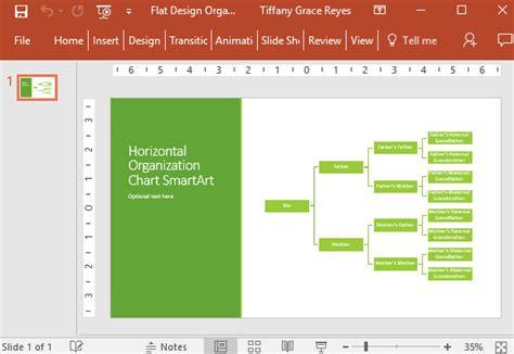 Flat Design Organizational Chart For Powerpoint Organization Chart Design Template
