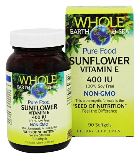 Sea Quill Vitamin E 400 Buy Whole Earth Sea Food Sunflower Vitamin E 400