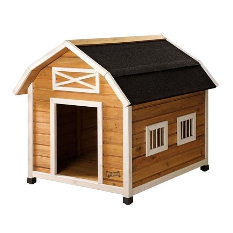 homedepot dog house pet squeak 3 2 ft l x 2 6 ft w x 2 8 ft h large the barn dog house 2002l the home