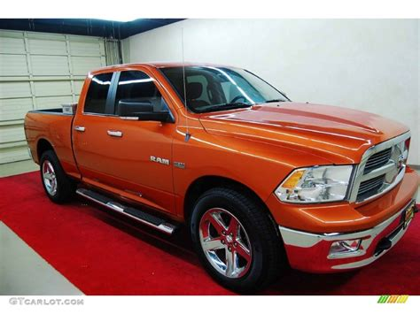 2010 sunburst orange pearl dodge ram 1500 lone cab 4x4 70963252 gtcarlot car
