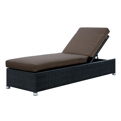 wicker outdoor chaise venetian worldwide albee i espresso wicker outdoor chaise
