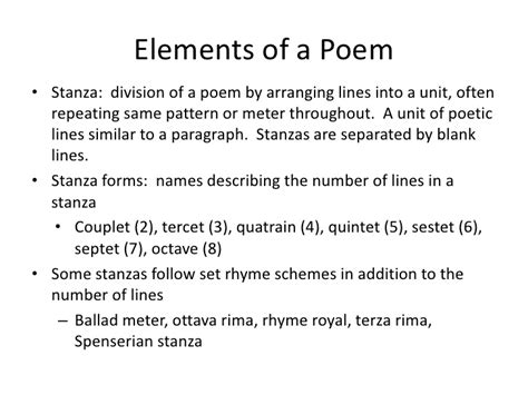 determine the pattern and name of the metrical foot used poetry powerpoint for fran s show