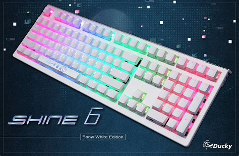Keyboard Ducky Shine 6 Dksh1608st Cusadabt2 Special Edition Blue Switc ducky shine 6 snow white rgb led mechanical keyboard brown cherry mx