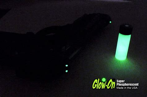 glow in the paint gun glow intensity of glow on gun sights paint different