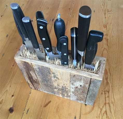 kitchen knives storage diy or buy kitchen knife holder improvised life