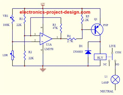light dependent resistor based projects light dependent resistor application circuit
