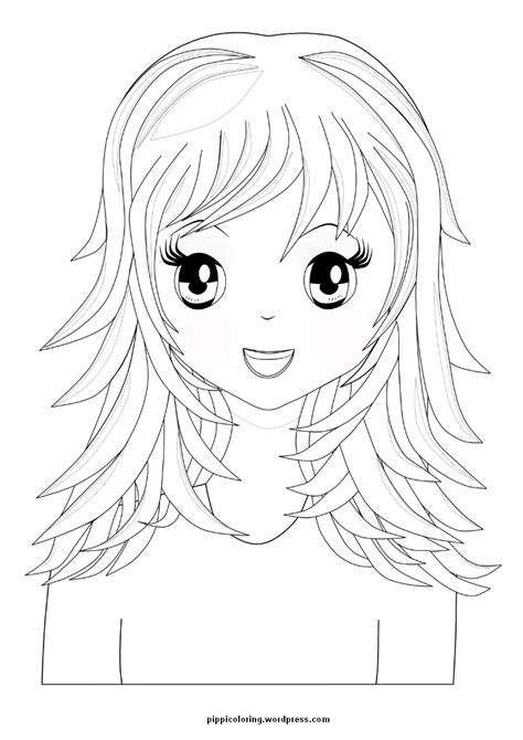 curly cartoon hair coloring coloring pages