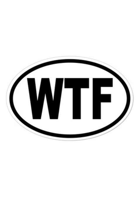 WTF Sticker Accessory - Geeky Gifts Accessories - Online