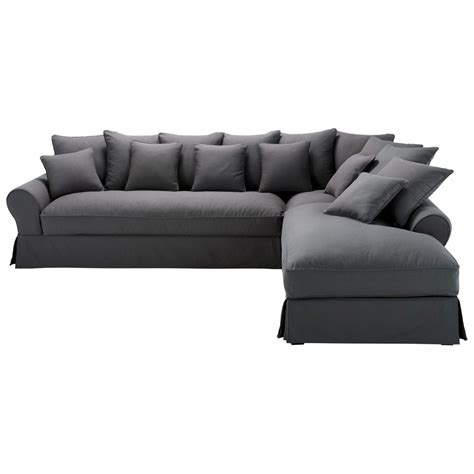 6 seater couch 6 seater charcoal grey cotton right hand corner sofa