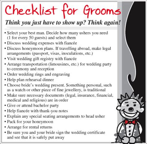 Wedding Checklist For And Groom by Wedding Checklist For Groom Driverlayer Search Engine