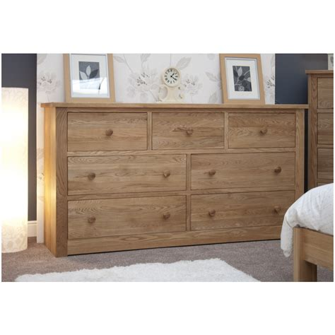 Kingston Bedroom Furniture Kingston Solid Modern Oak Bedroom Furniture Wide Chest Of Drawers Ebay