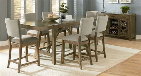 omaha dining room set w upholstered bench grey formal omaha counter height dining set w upholstered chairs