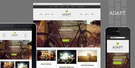 themes wordpress logo adapt a responsive wordpress theme by designerthemes