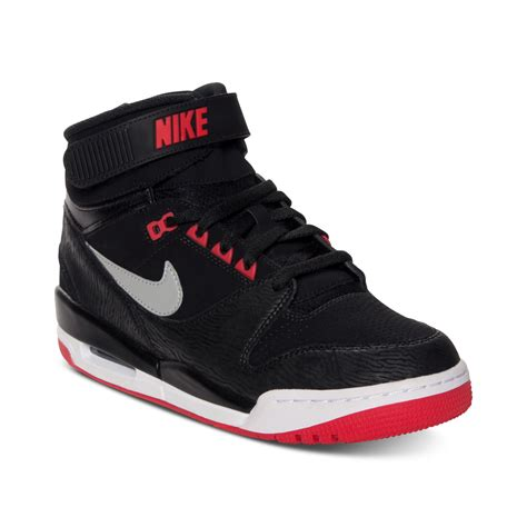 Nike Air Revolitions 373753839 nike air revolution basketball sneakers in black for black silver lyst
