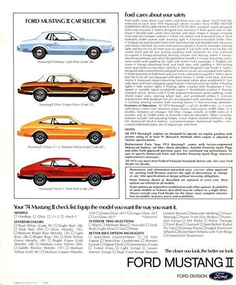 car manuals free online 1974 ford mustang auto manual directory index ford mustang 1974 ford mus 1974 ford mustang ii brochure
