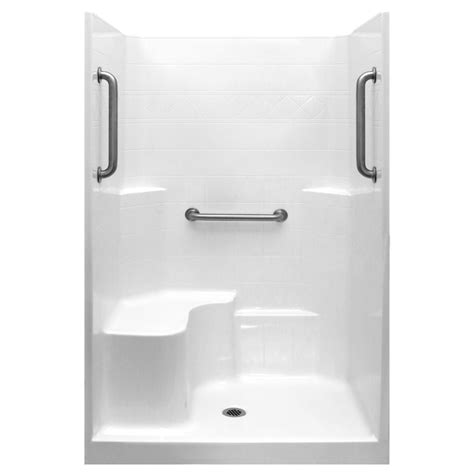 One Shower Stall With Seat by Classic 48 X37 One Low Threshold Shower Stall Kit