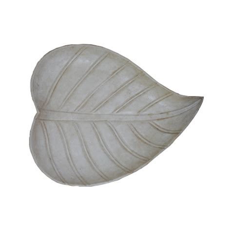 Leaf Plates 1 marble leaf plate carved white mable tabletop accessories