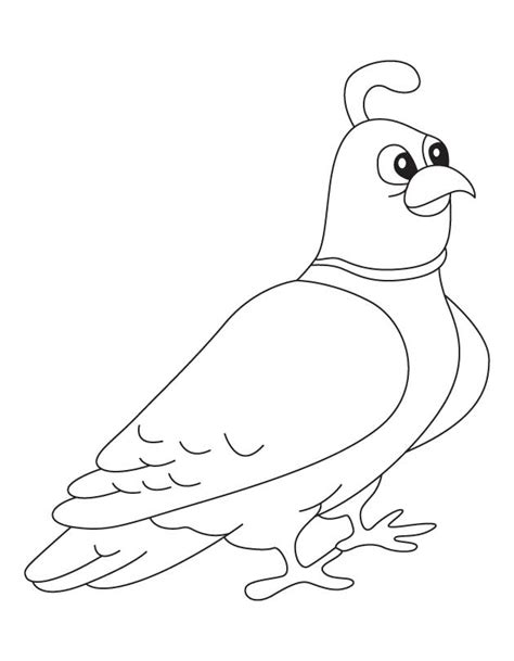 Coloring Page Quail | free coloring pages of quail and manna