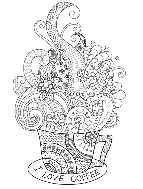 Coloring Pages For Adults Coffee | 10 free coffee printables dawn nicole designs 174