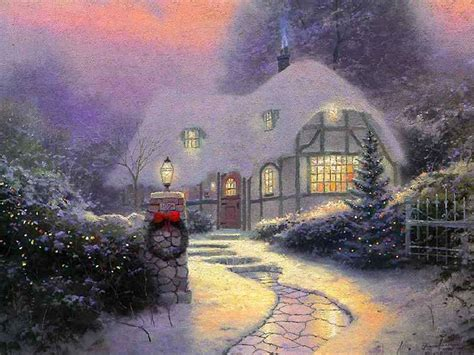 3d snowy cottage screensaver pictures to pin on