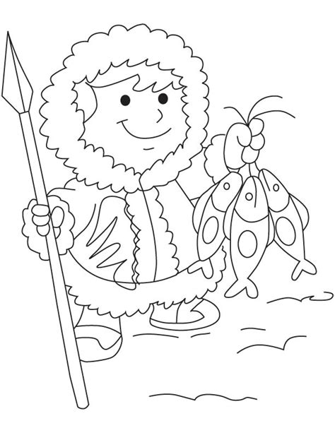 eskimo coloring sheet coloring pages
