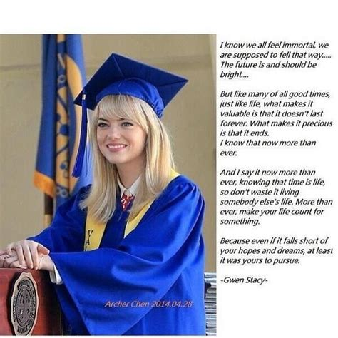 emma stone quotes pinterest gwen stacy s valedictorian speech illustration quotes