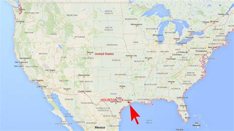 houston map in usa estero locations we like