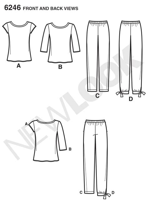 pattern review best of 2013 new look 6246 misses tapered ankle pant and knit top