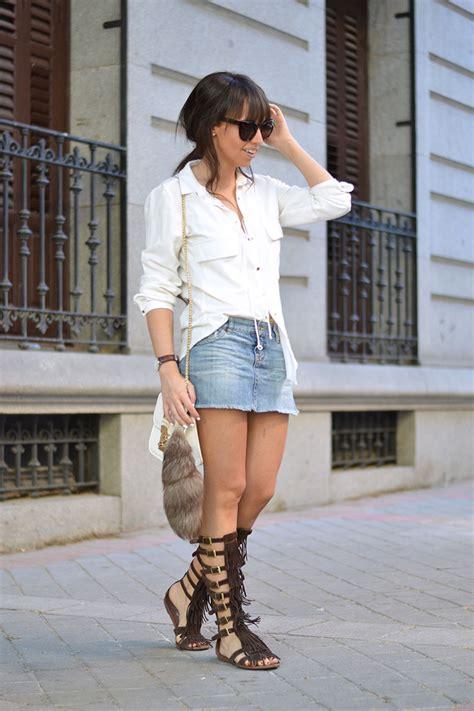 Blouse Denim Jeje denim skirt wear