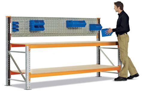 Small Industrial Desk by Benches Workbench Speedlock Workbench Dexion