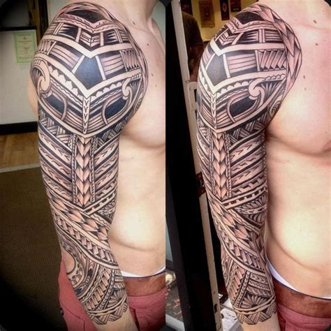 tribal tattoos sleeves 40 aztec designs for and
