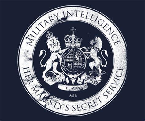 military intelligence section 6 james bond mi6 t shirt her majesty s secret service logo
