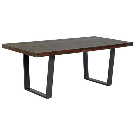 rectangular dining room table signature design parlone d721 25 modern rustic rectangular dining room table dunk