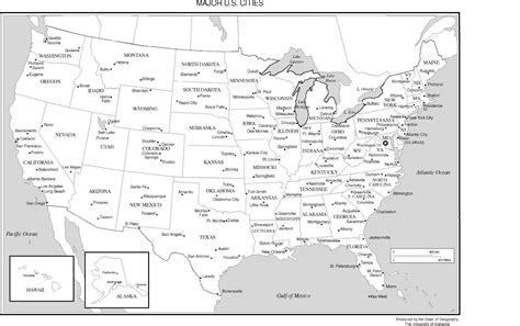 Printable Map Of With Cities