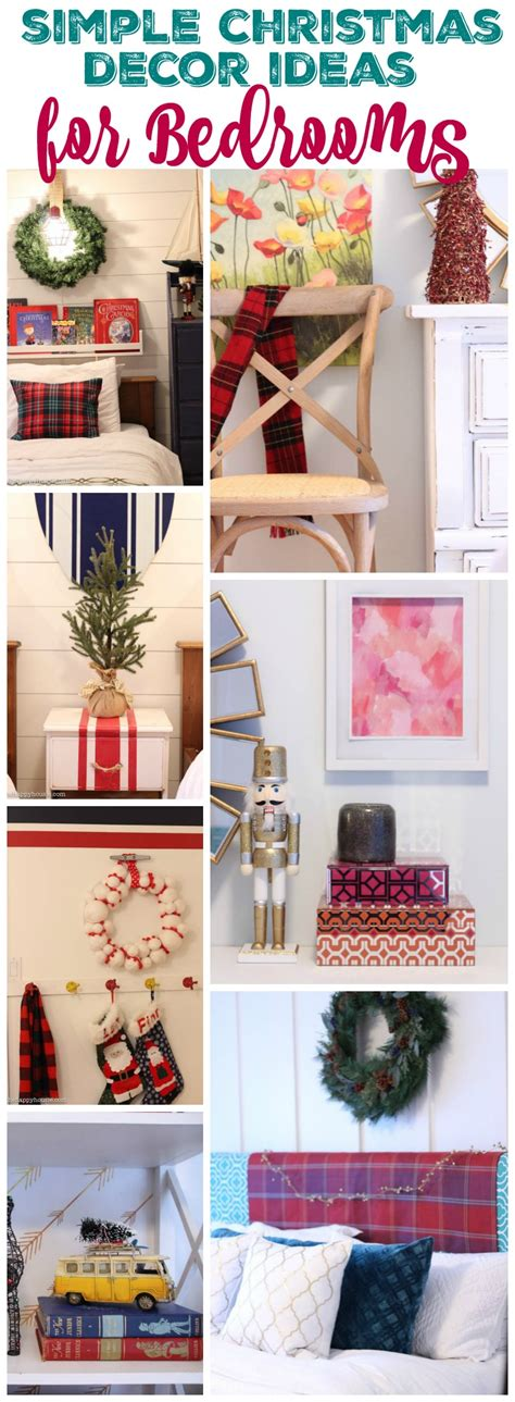 quick decor christmas decor in the bedrooms the happy housie