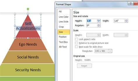 How To Create A Maslow S Pyramid Of Needs In Powerpoint Using Smartart Powerpoint Presentation Pyramid Chart Excel Template