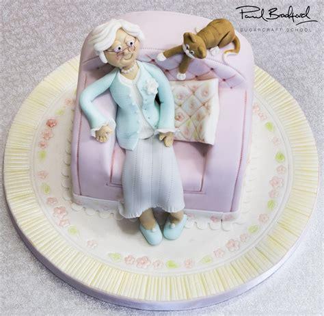 Black Leather Armchair Old Lady Armchair Cake Paul Bradford Sugarcraft