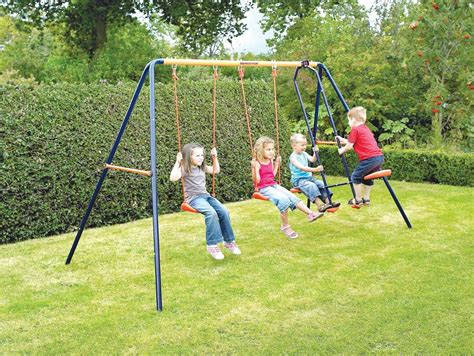 swings kids climbing frame clearance top deals on wooden metal frames