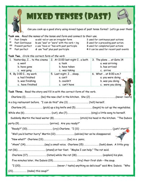 mixed tenses past interactive worksheet