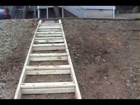 Sloped Backyard Retaining Wall Building Landscape Steps By Mr Energy Youtube