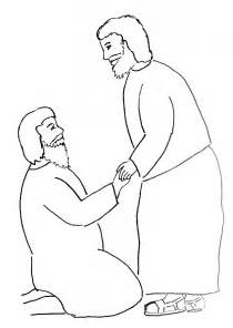 Blind Barnabas Bible Story Coloring Page Peter Heals A Crippled Man