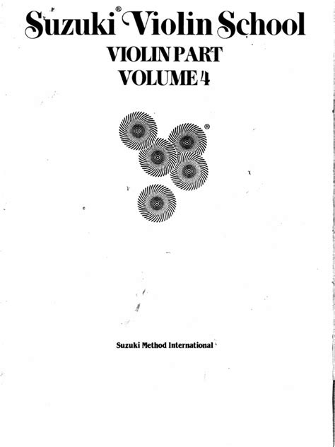 Suzuki Method For Piano Suzuki Violin Method Vol 04