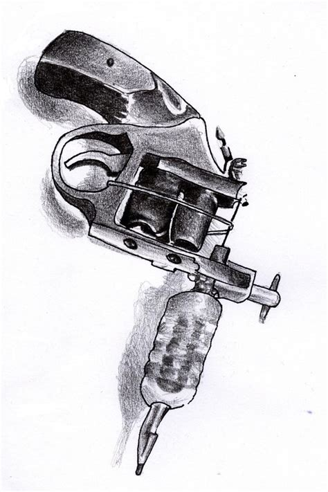 tattoo gun drawing gun by lazbathory on deviantart