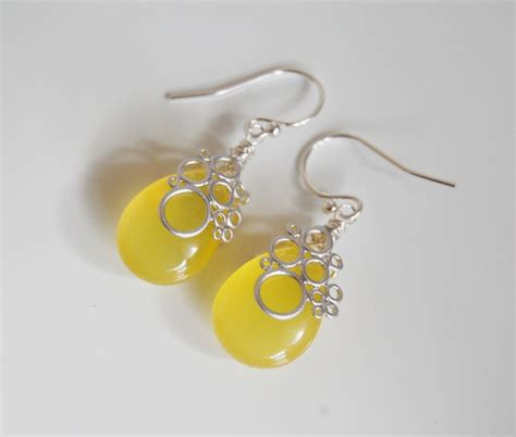 Yellow Chalcedony Top Mantap gorgeous yellow chalcedony dangle earrings from ferozasjewelry on ruby