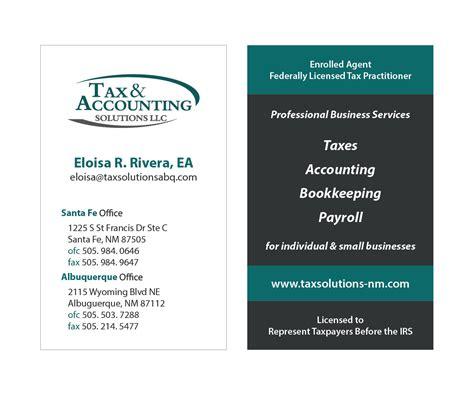 Tax Business Card Design