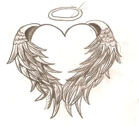wings with halo tattoo designs hearts with wings tattoos see to world